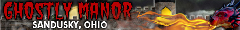 Banner ad for Ghostly Manor in Sandusky, Ohio