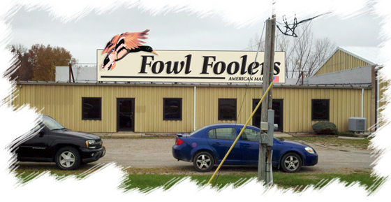 Fowl Foolers facility sign mock-up